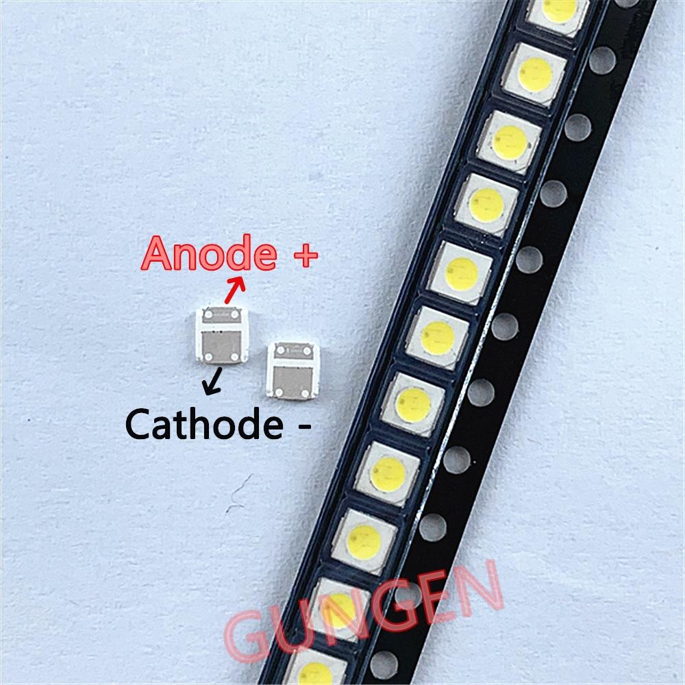 1000 قطعة/الوحدة الأصلي ل LEXTAR 3030 3V SMD LED الخرز 3V الباردة الأبيض 1W للتلفزيون الخلفية تطبيق عالية الطاقة