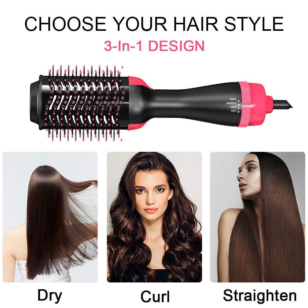 3 in 1 Hair Dryer Brush One Styling Step Hair Dryer Volumizer Salon Hot Air Brush for Women Fast Dry