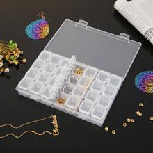Boîte de rangement 28 cellules bricolage   Peinture diamant, accessoires, boîte de rangement, strass, organisateur perles, Kit de bijoux, étui, boîte de rangement pour la maison