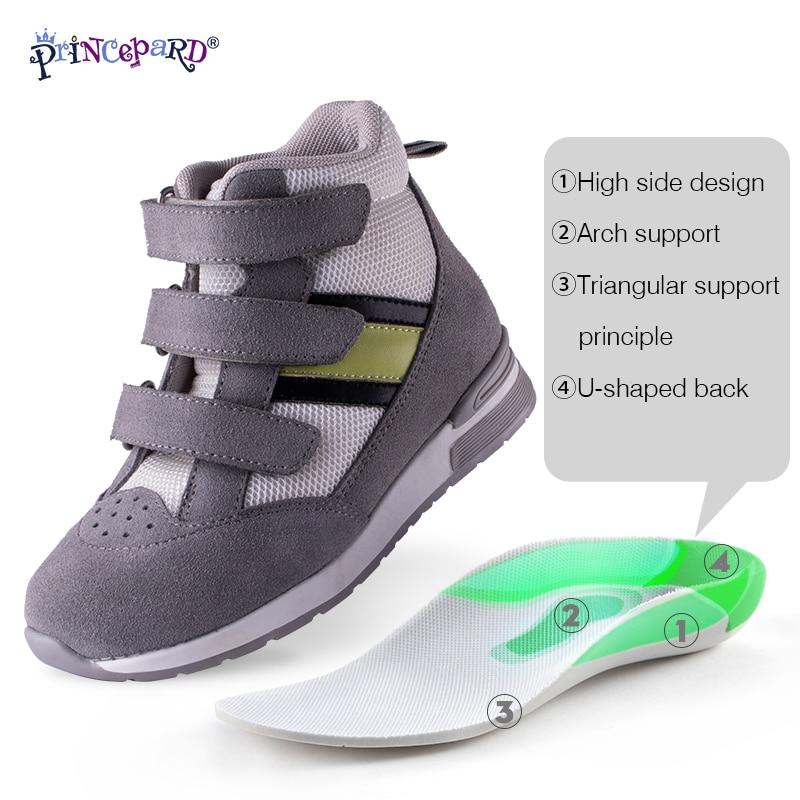 Princepard Children Orthopedic Shoes Sneaker Adjustable Strap Corrective Casual Shoes with Ankle Support Care for Kids Boy Girls enlarge