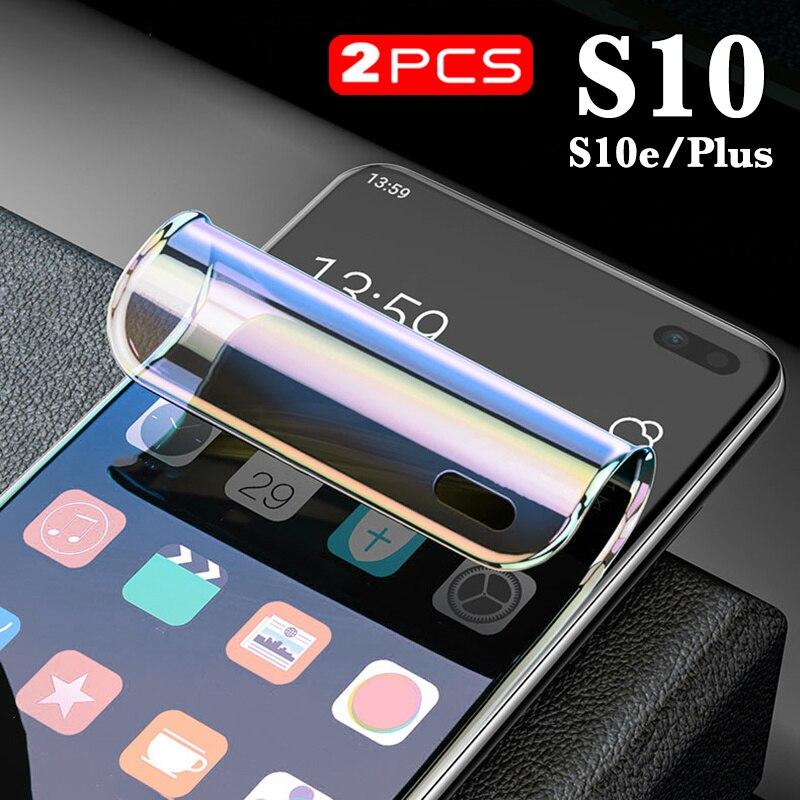 2 шт., s10 plus, мягкий протектор экрана для samsung galaxy s10plus, корпус из стекла, гидрогель sg gs s 10 s10e 10e e пленка 10 s samsungs10 plu