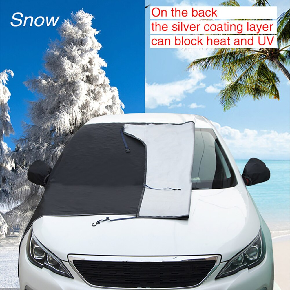 Windproof Windshield Sunshades Snow Ice Cover with Side Mirror Covers Summer Windshield Sun Shade Car SUV Exterior Accessories