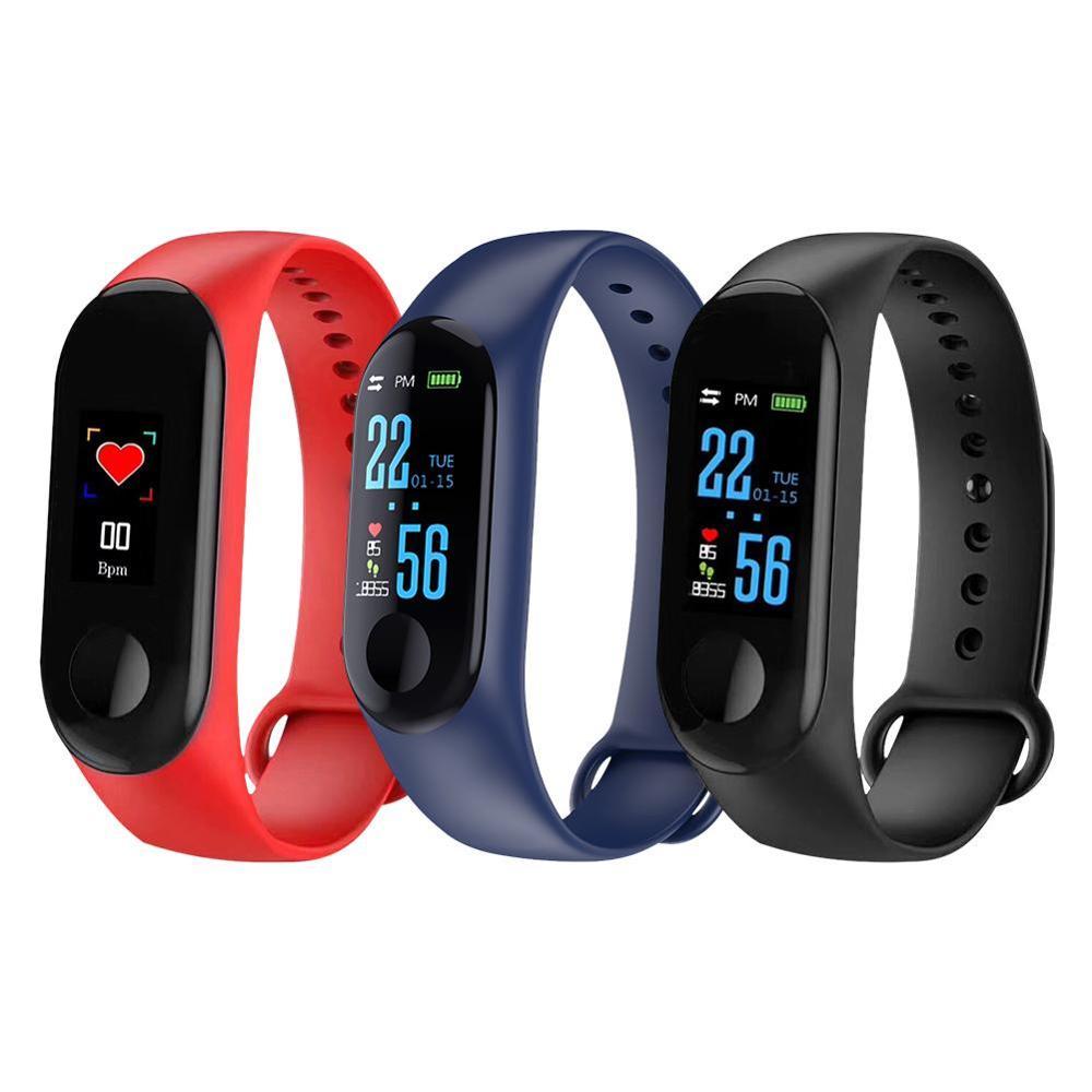 M3 Farbe Smart Bildschirm Sport Fitness Armband Blutdruck Aktivität Tracker Smart Armband Für Männer Frauen Uhren