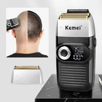 electric shaver 3d triple floating double blade face shaving beard washable usb rechargeable portable beard trimmer machine 45g