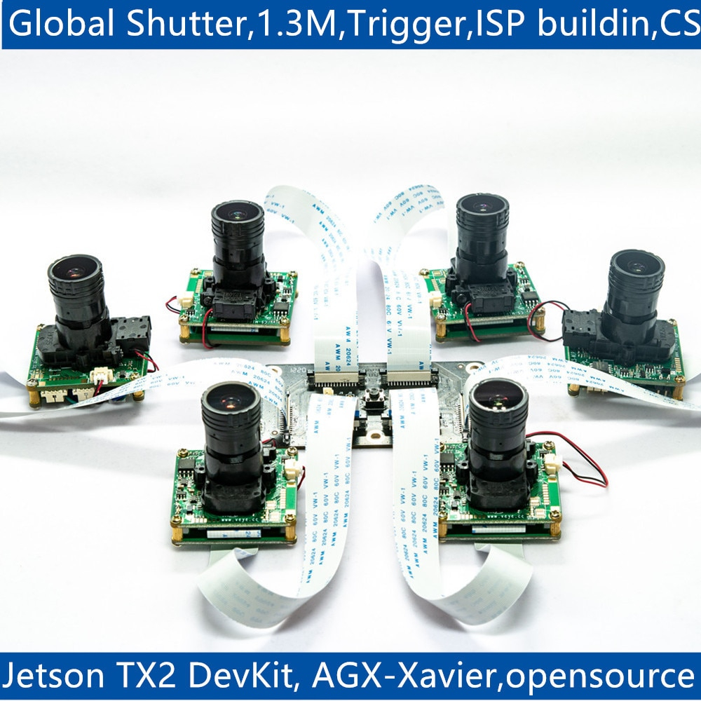 1.3MP Global Shutter MIPI CSI-2 Camera, CS-TX2-XAVIER-nCAM-SC132 for Jetson TX2 Devkit and Xavier
