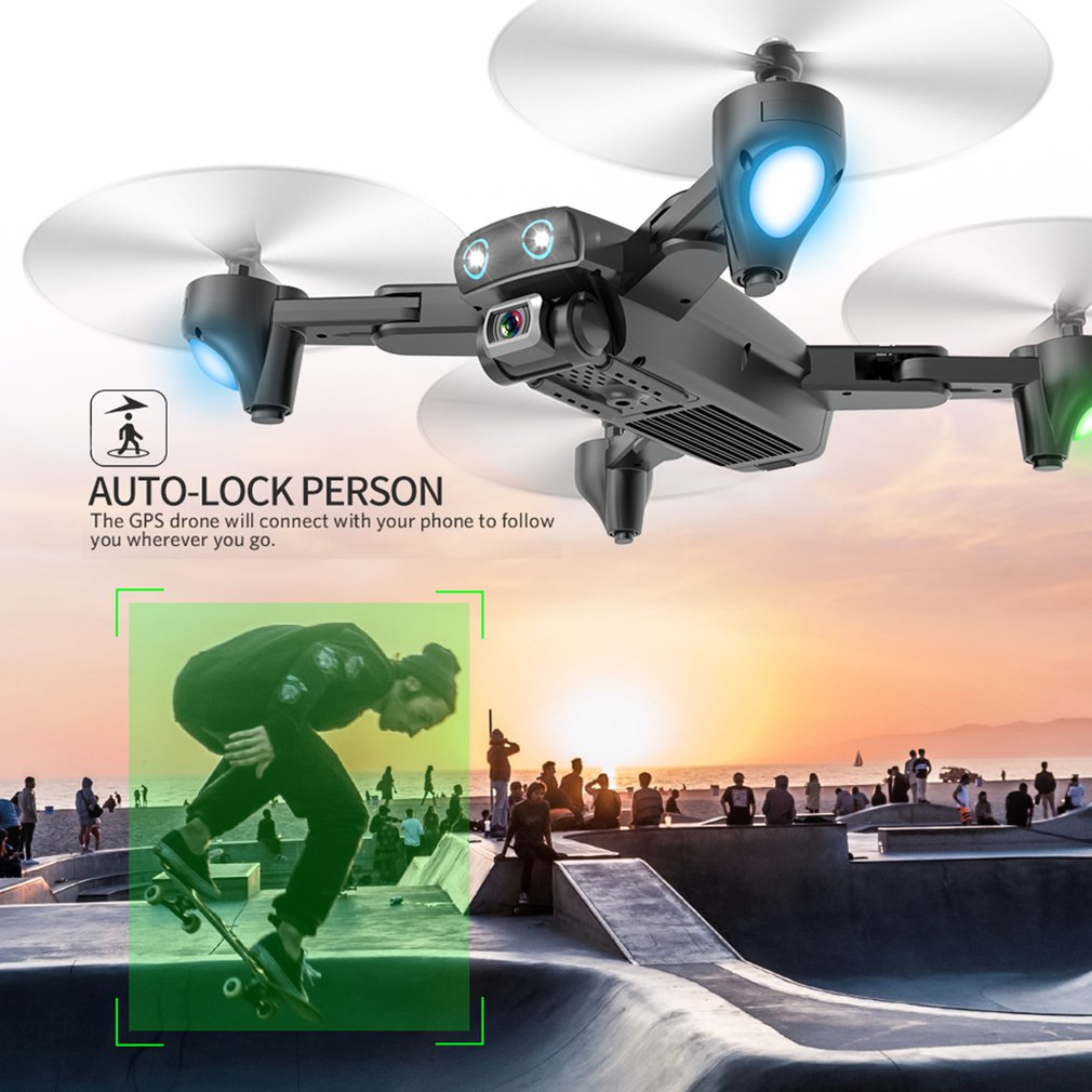 S167 4G Drone GPS RC Quadcopter With 1080P Camera WIFI FPV Foldable Off-Point Flying Gesture Photos Video Helicopter Toy enlarge