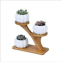 Nordic árvore de madeira vasos de cerâmica vaso de flores plantador ferro quadro planta titular verde vaso de flores mesa escritório jardim ornamento