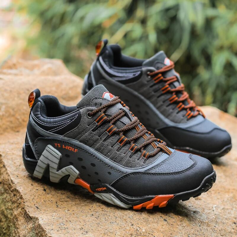 Outdoor Lover Trekking Shoes Men Waterproof Hiking Shoes Mountain Boots Genuine Leather Woodland Hunting Tactical Shoes