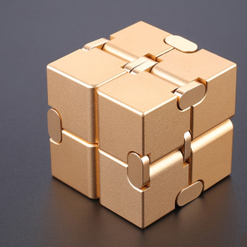 Stress Relief Toy Premium Metal Infinity Cube Portable Decompresses Relax Toys for Children Adults enlarge