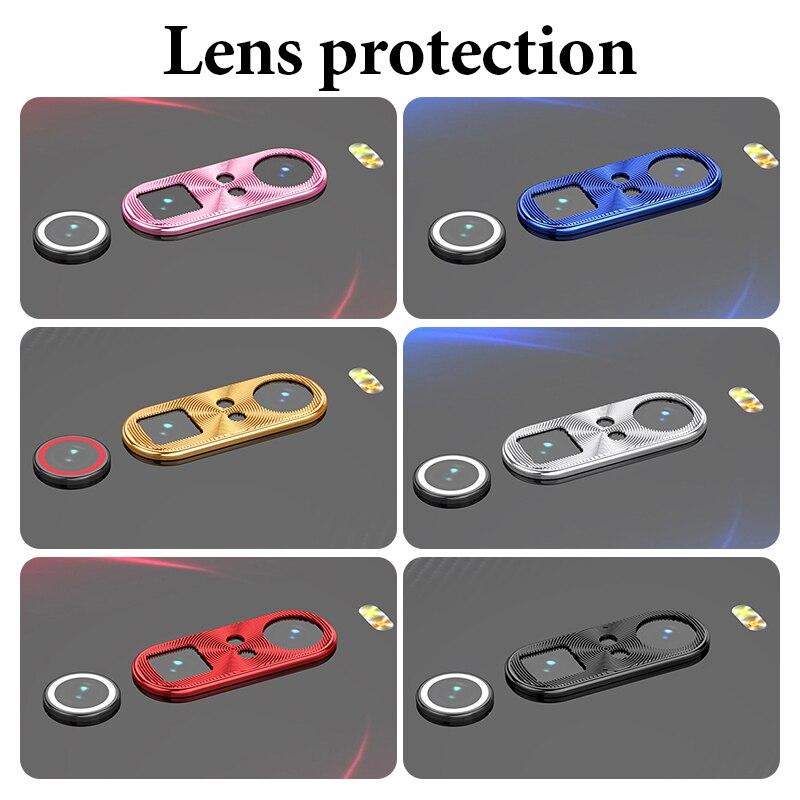 Funda de lente para Xiaomi Redmi Note 8, Note 8, Pro Note 7, K20 Pro, anillo de Metal protector para cámara para Xiaomi Mix3, Mi 9, 8, Mi8 y Mi9 SE