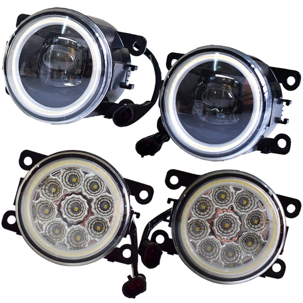 For Vauxhall Astra Mk IV (G) Coupe (F67) 2000-2005 Car H11 LED Fog Light Assembly Angel Eye DRL Daytime Running Light 12V