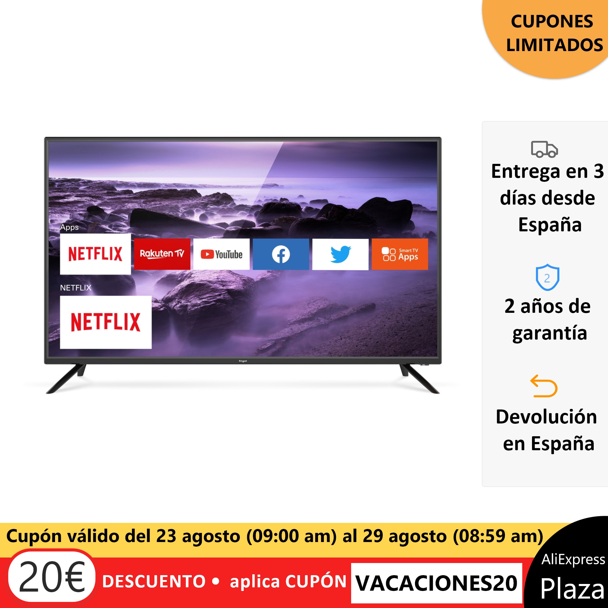 Tv Tv ENGEL LE4060SM LED de 40 Pulgadas Smart Tv (Netflix y WiFi)