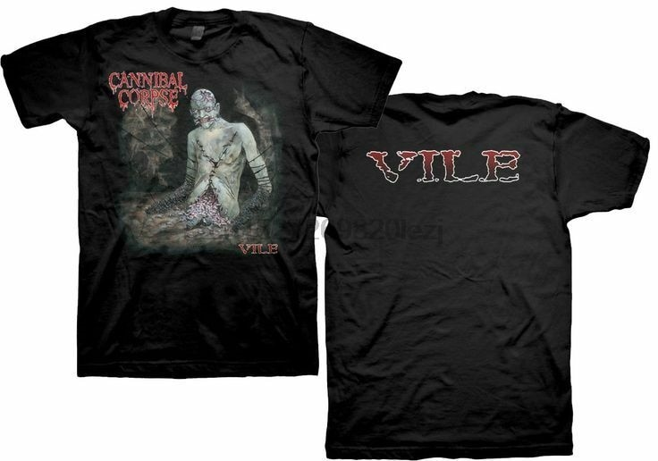 Cannibal cadáver vil médio t shirtharajuku streetwear camisa masculina