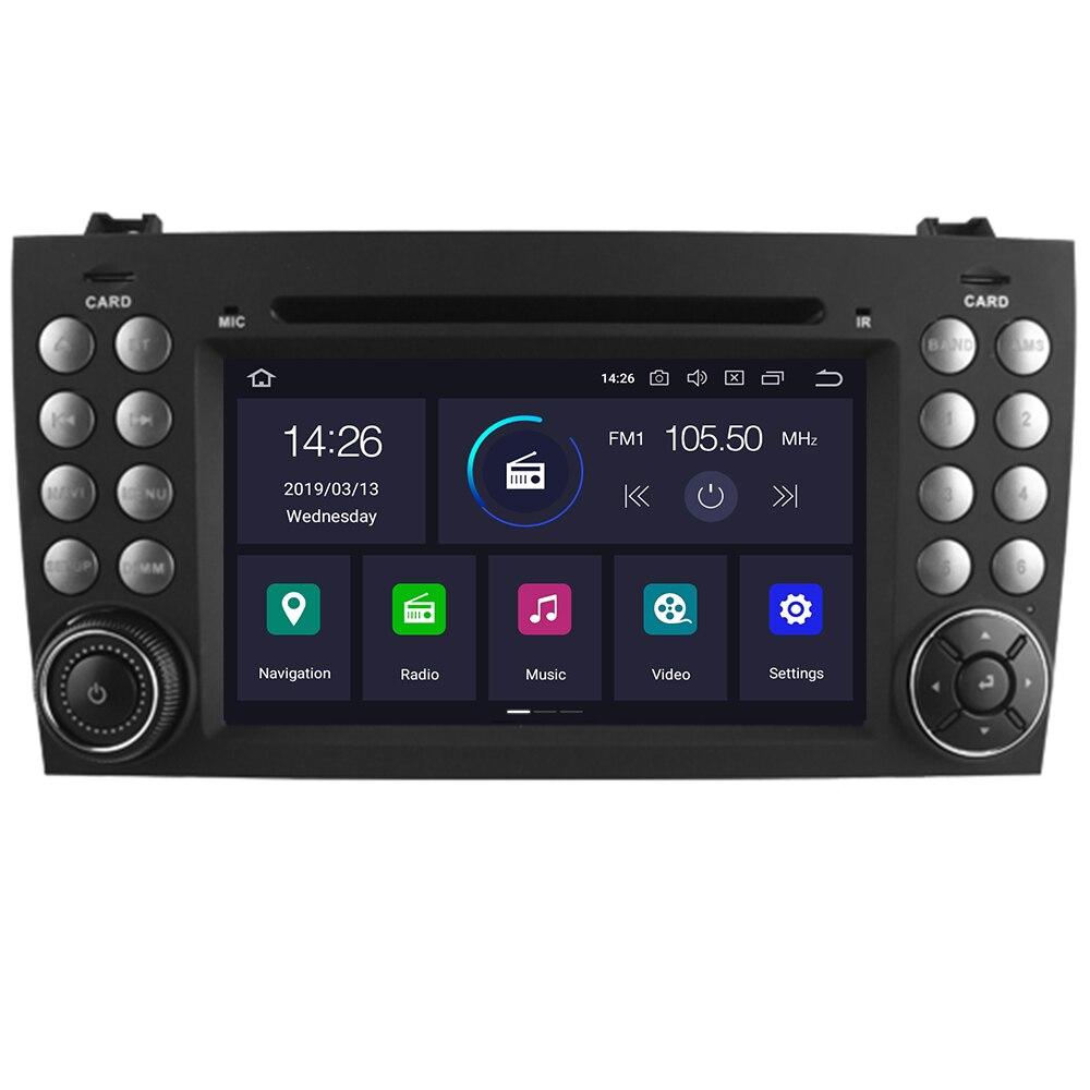 2 Din Android 10 4 + 32G reproductor de DVD de coche para Mercedes Benz W171 2008-2011 Clase SLK R171 SLK200 SLK230 SLK280 Multimedia GPS Radio