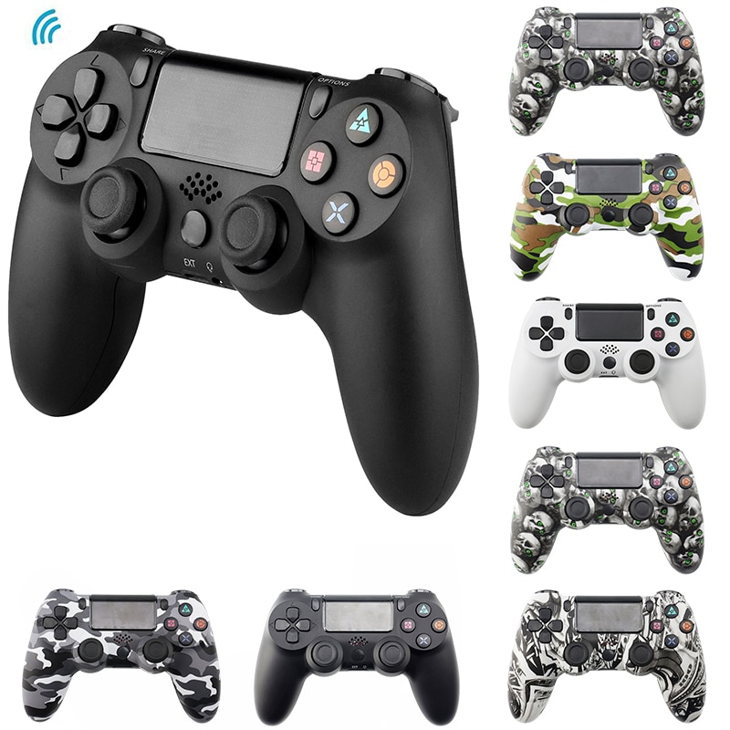 Bluetooth Wireless/Wired Joystick for PS4 Controller Fit For mando ps4 Console For Playstation Dualshock 4 Gamepad For PC PS3 2020 wireless bluetooth game controller for ps4 joystick for playstation dualshock 4 gamepad for mando ps4 console ps4 gamepads