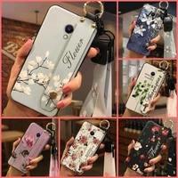 flower for girls phone case for meizu m5s phone holder kickstand dirt resistant durable wrist strap
