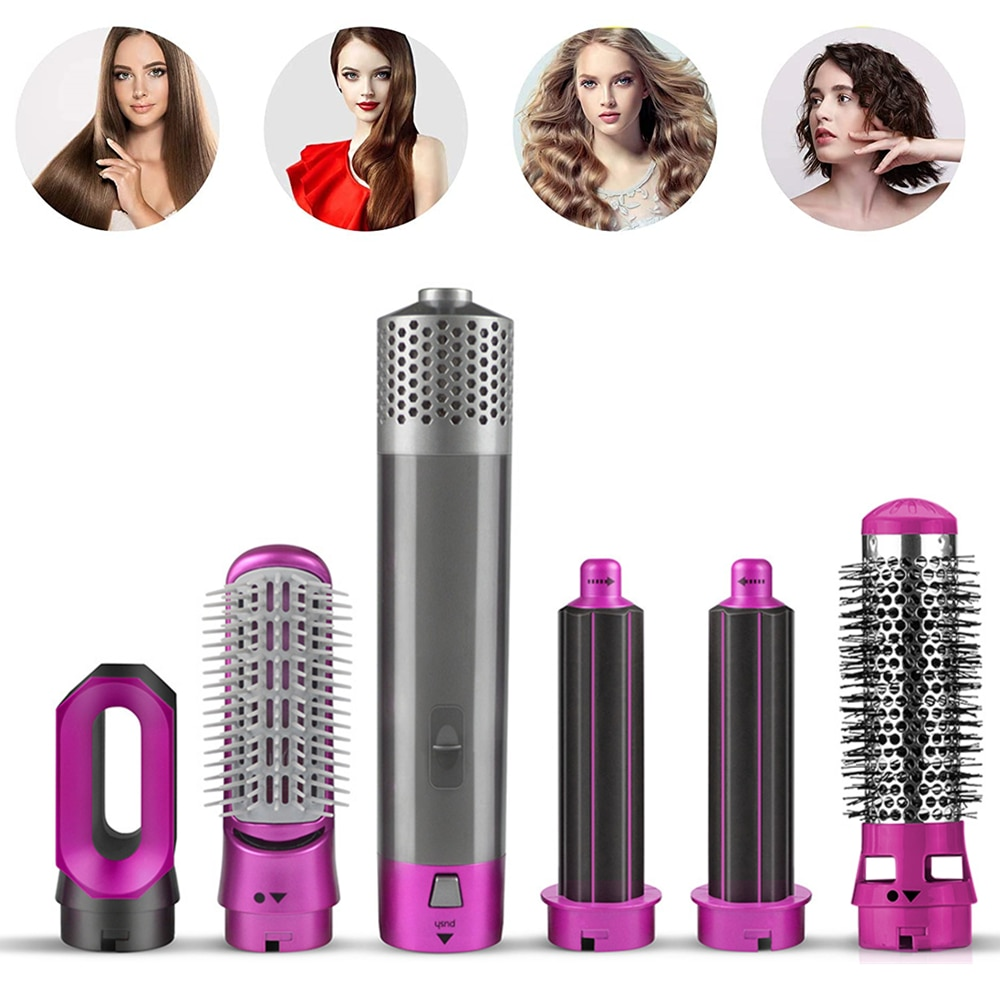 5 in 1 Electric Hair Dryer Brush Blow Dryer Hair Blower Brush Hot Air Styler Comb Hairdryer Hair Str