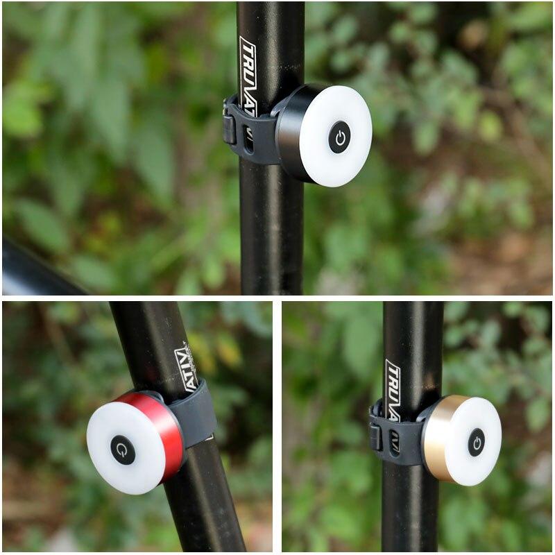 Светодиодный Предупреждение ющий фонарь для езды на велосипеде, задний фонарь COB, 5 режимов, оптимальный визуальный эффект для крепления на круглой Подседельный штырь и ремень