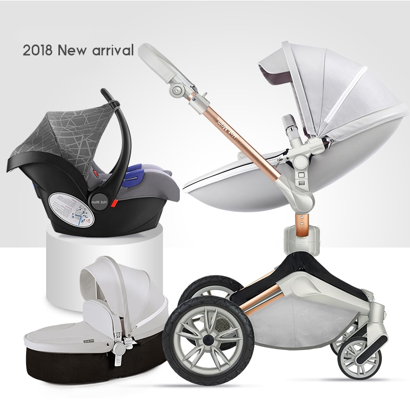 2020 original Hot Mom stroller High Landscape carriage Luxury 3 in 1 baby stroller Newborn trolly folding shock  pram free ship