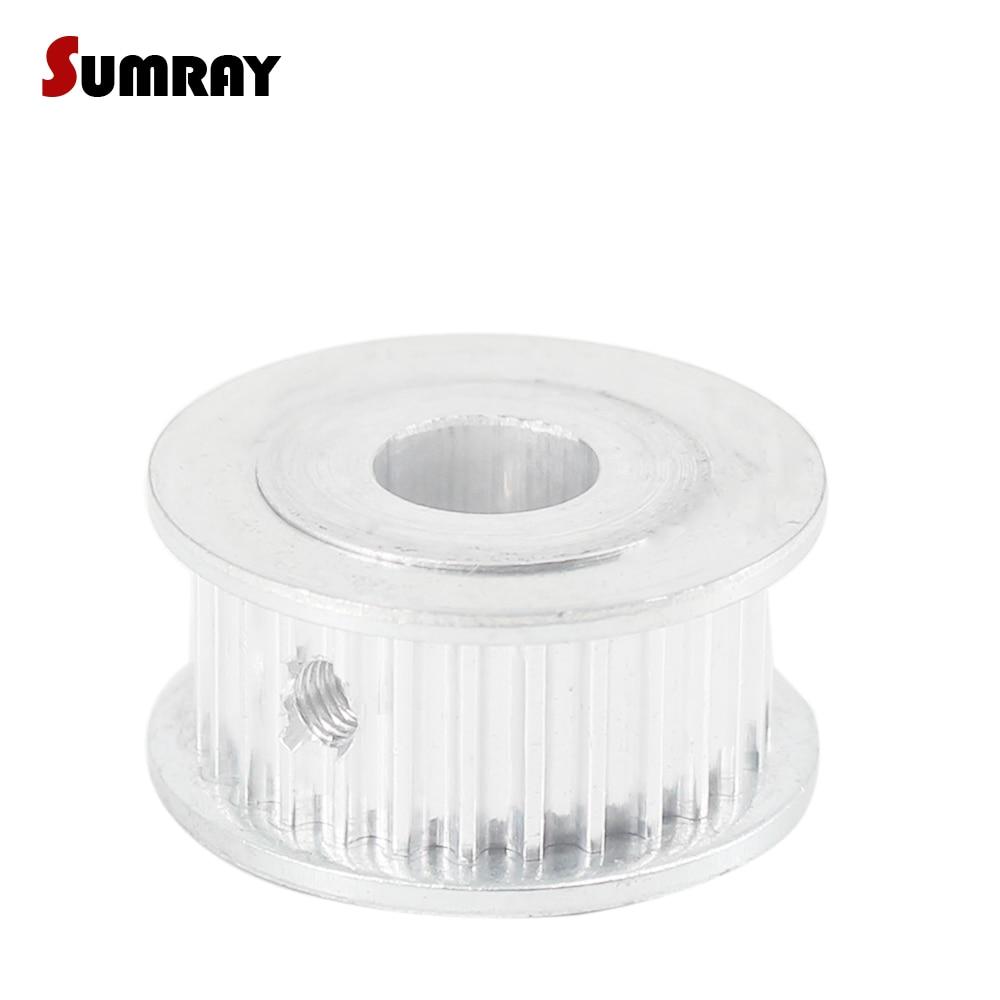Sumray 3 m 32 t polia cronometrando 5/6/6. 35/7/8/10/12/12. 7/14/15mm de diâmetro interno do motor polia 11mm largura da correia roda de polia de alumínio