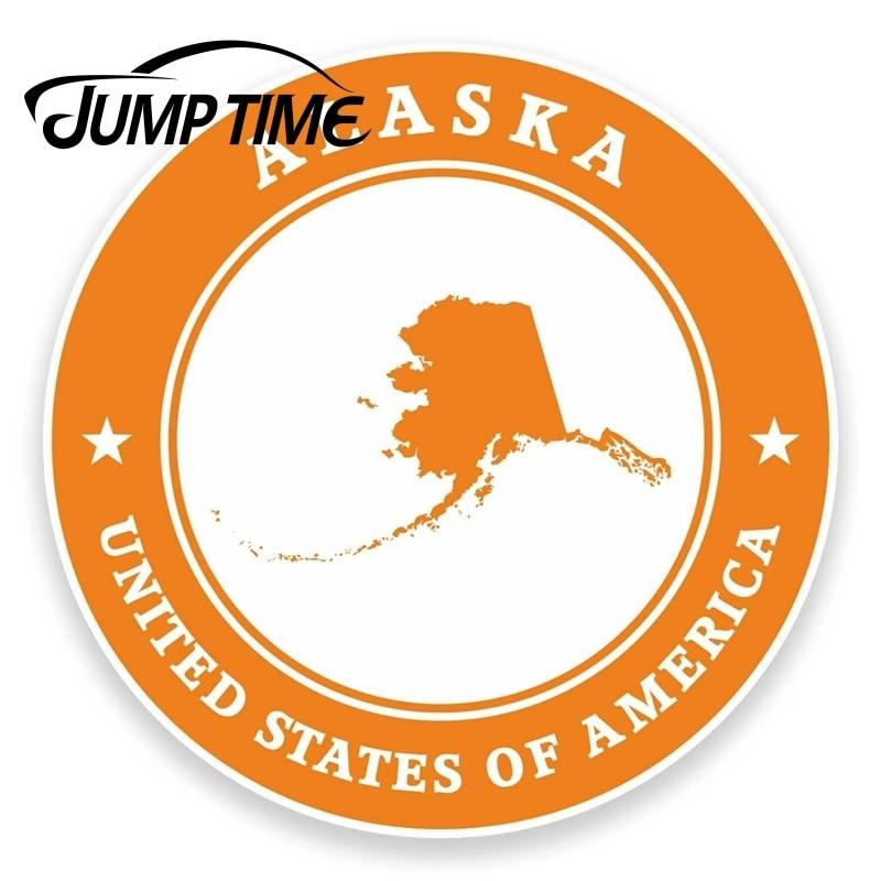 Pegatina de vinilo Jump Time para Alaska, USA, iPad, portátil, coche, viaje,...