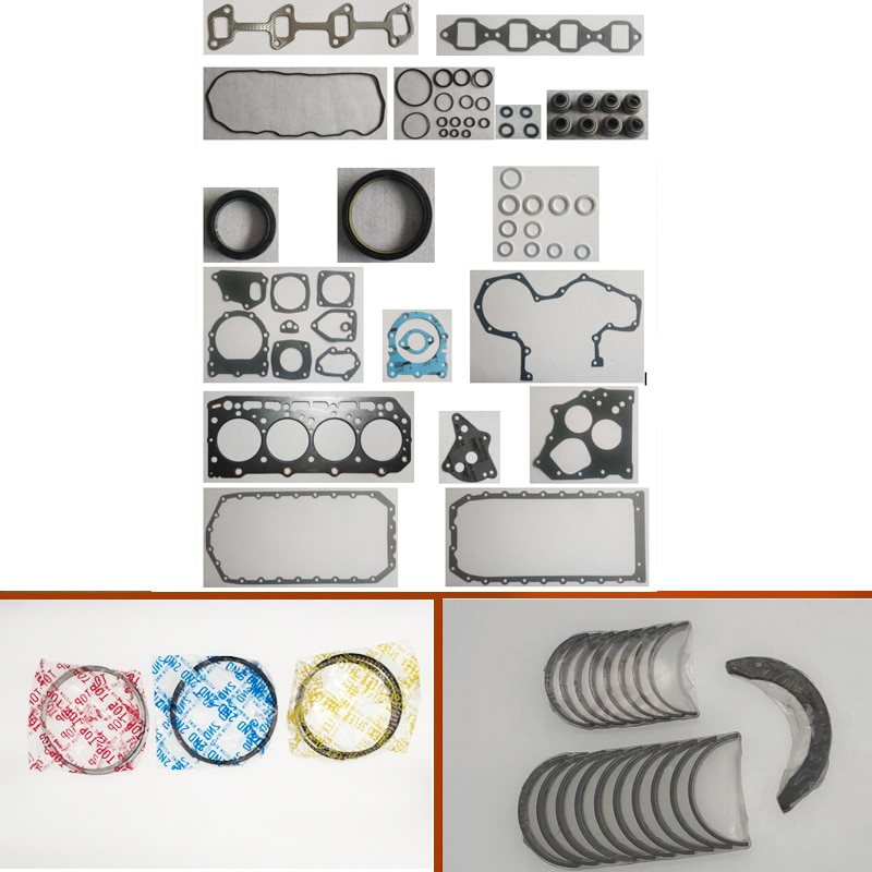 Para Yanmar 4TN82 4TNA82 4TN82E junta conjunto Completo kit virabrequim rolamento da haste de conexão do anel de pistão para a John Deere 575 675B Skid