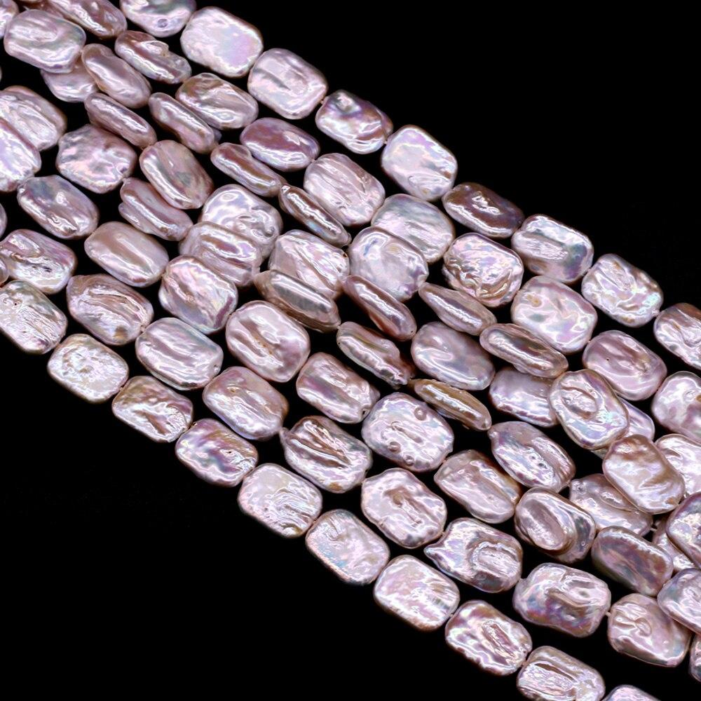 Perles de perles de Rectangle deau douce naturelle perles baroques perles en vrac pour collier à faire soi-même Bracelet fabrication de bijoux