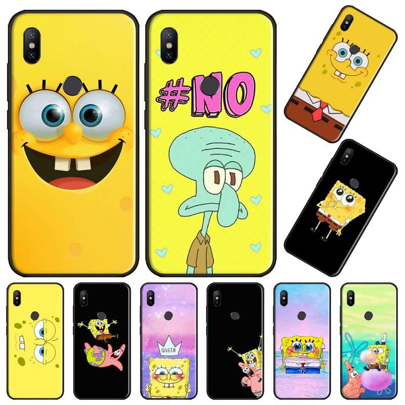 Bob Esponja dibujos animados Piestar animal suave silicona TPU teléfono cubierta para Xiaomi Redmi Nota 4 4x5 6 7 8 pro S2 PLUS 6A PRO