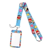 jf0280 cute boy lanyard credit card id holder bag student women travel bank bus business card cover badge gifts