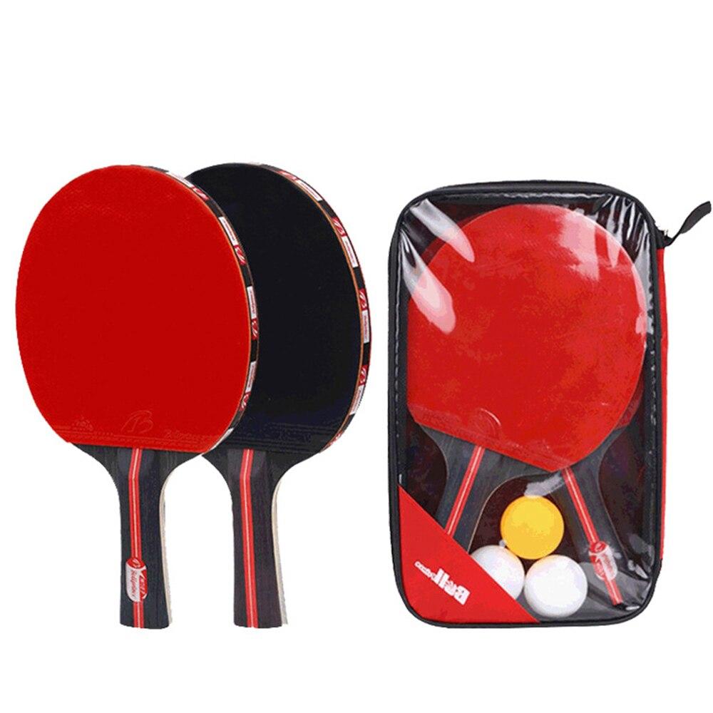 Горячая портативная ракетка для настольного тенниса, телескопическая ракетка для пинг понга, 1 пара, весло для настольного тенниса, 4 шт., набор мячей