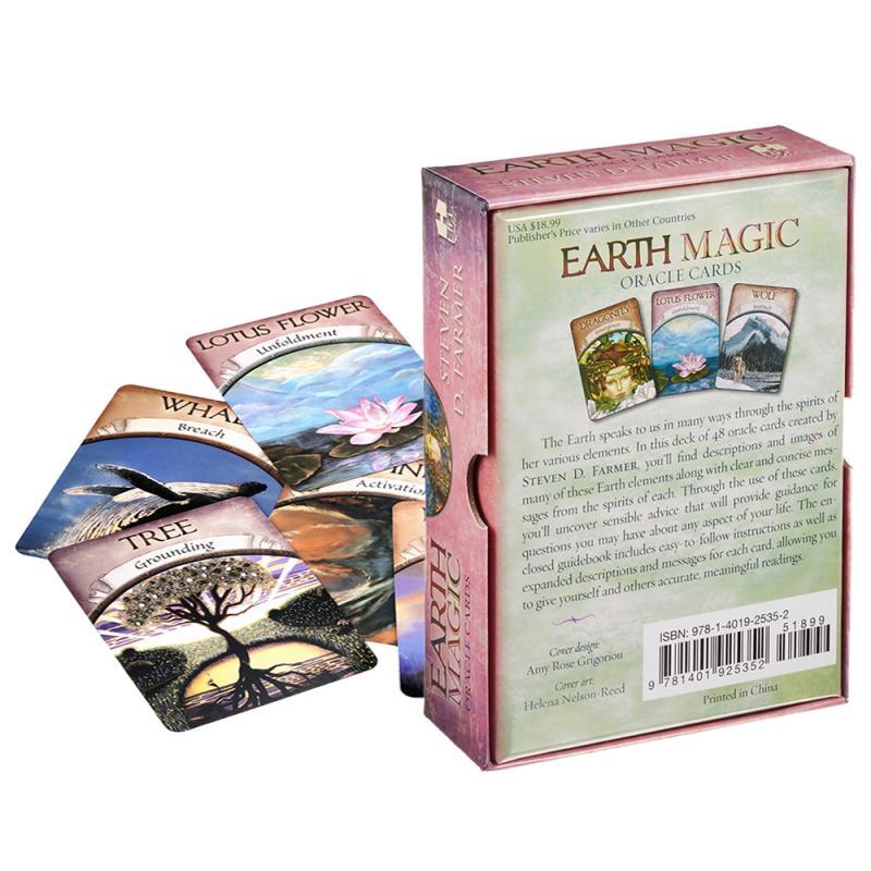 Esoteriismo oracle cartas oráculo baralho de tarô, jogo de tabuleiro, terra, mágica, ler o destino, 48 cartas de tarô e livro guia para entretenimento