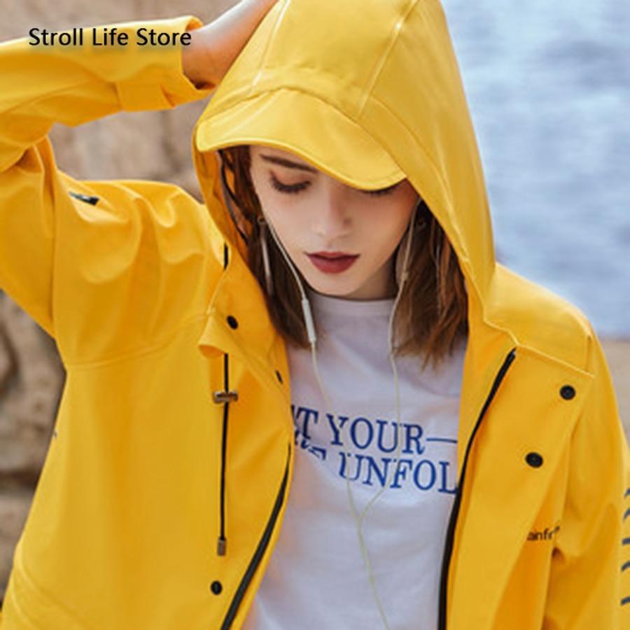 Long Yellow Raincoat Waterproof Men Rain Coat Women Outdoor Windbreaker Adult Rain Jacket Partner Gabardina Mujer Rainwear Gift enlarge