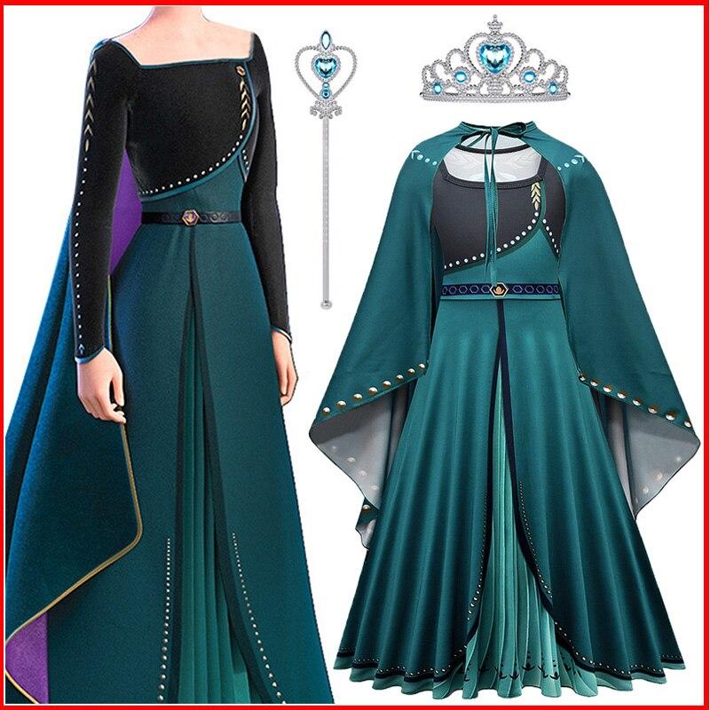 Vestido de princesa 2 para niñas, vestidos de Cosplay, disfraces de nieve...