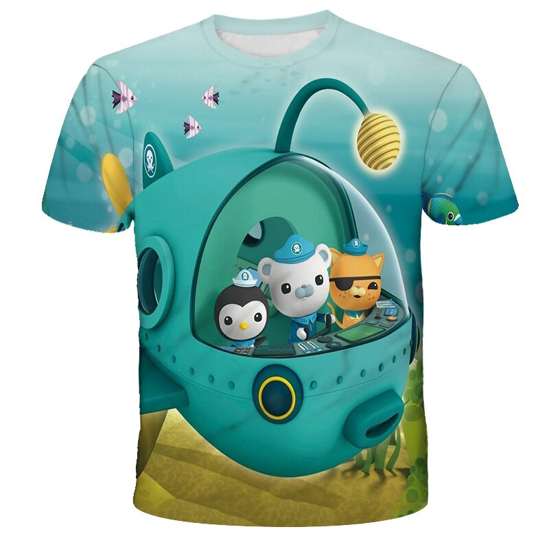 2021 3D children's T-shirt, 4-14T, boy and girl clothing, cartoon game pattern, summer top, new series