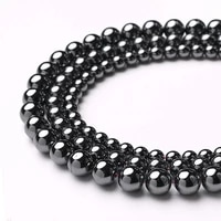 wholesale natural stone beads loose spacer hematite bead for jewelry making