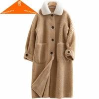 sheep shearing winter jacket women clothes 2020 koresan real fur coat female thick warm long jackets hiver coats f29099 c