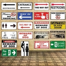 30X15CM Arrow Sign  License Plate Bar Wall Decoration Restrooms  Vintage Metal Sign  Shop Home Restaurant Decor Poster DC-0057A