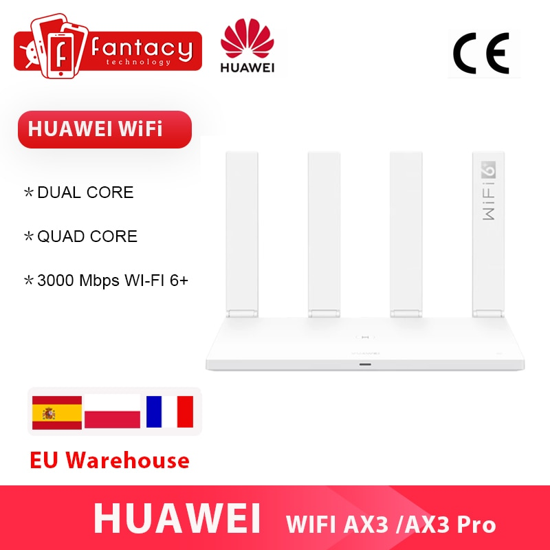 Huawei Router AX3 WiFi 6 Plus 2.4GHz&5GHz Dual Core Quad Core 3000Mbps Wireless Wi-Fi 6+ Router AX3 Pro MultiLanguage