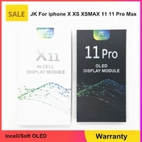 jk soft oled lcd pantalla display for iphone xsmax 11 pro incell lcd display touch screen digitizer assembly for iphone x xs 12