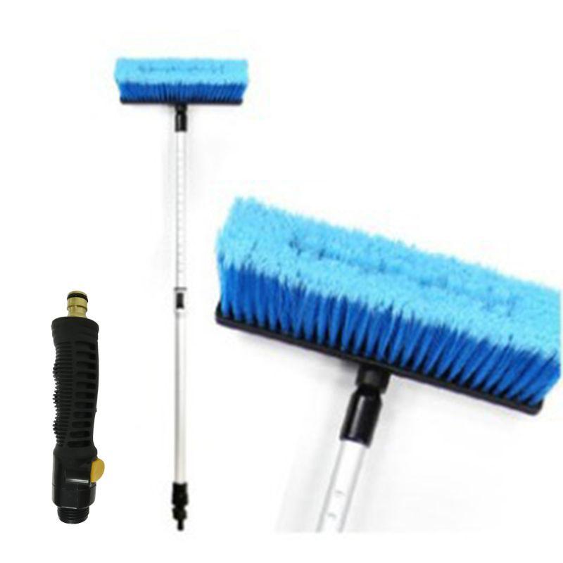Car Flow-through Wash Brush Telescoping Handle Soft Cleaning Head RV Truck Wash Trailer 57BA