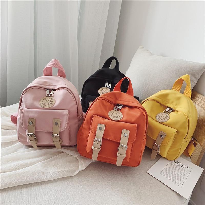 2021 Backpack Women Backpack Solid Color Women Shoulder Bag Fashion School Bag For Teenage Girl Children School Backpacks Female