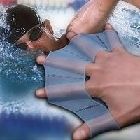 1 pair frog silicone hand swimming training flippers swim palm finger webbed gloves paddle improve slip swim glove equipment