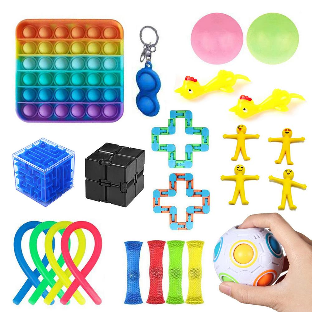 22Pcs Anti-stress Fidget Toys Set For Kids Adult Pop It Pack Squish Sensory Stress Relief Figet Toys Autism Special Needtoys enlarge
