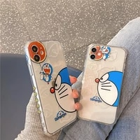 doraemon cute cartoon lady phone case for iphone 12mini12promax11pro11promaxxssexr788plusxsmax couple phone cover