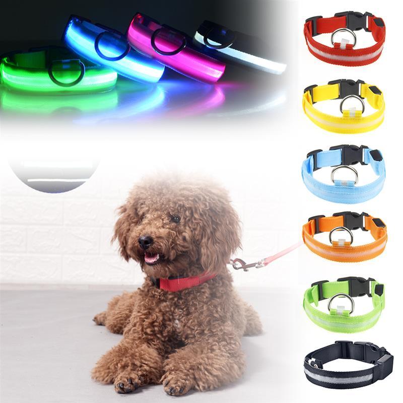 Collar de malla para mascotas, luz roja y USB, XS + nailon,...
