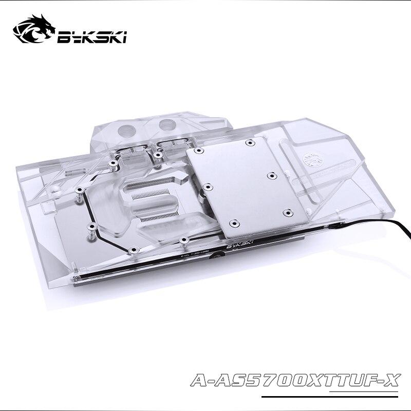 Bykski Water Block use for ASUS TUF3 RX5700XT O8G GAMING OC / Full Cover Copper Radiator Block / 3PIN 5V A-RGB / 4PIN 12V RGB