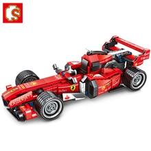 سيمبو تكنيك 701351 فيرارد سوبر سباق السيارات نموذج اللبنات مجموعة الكلاسيكية المتسابق المركبات لعبة هدية الكريسماس للأطفال