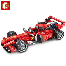 Sembo Technic 701351 Ferrared Super Racing Car Model building blocks Set Classic Racer Vehicles Toy Christmas Gift For Children