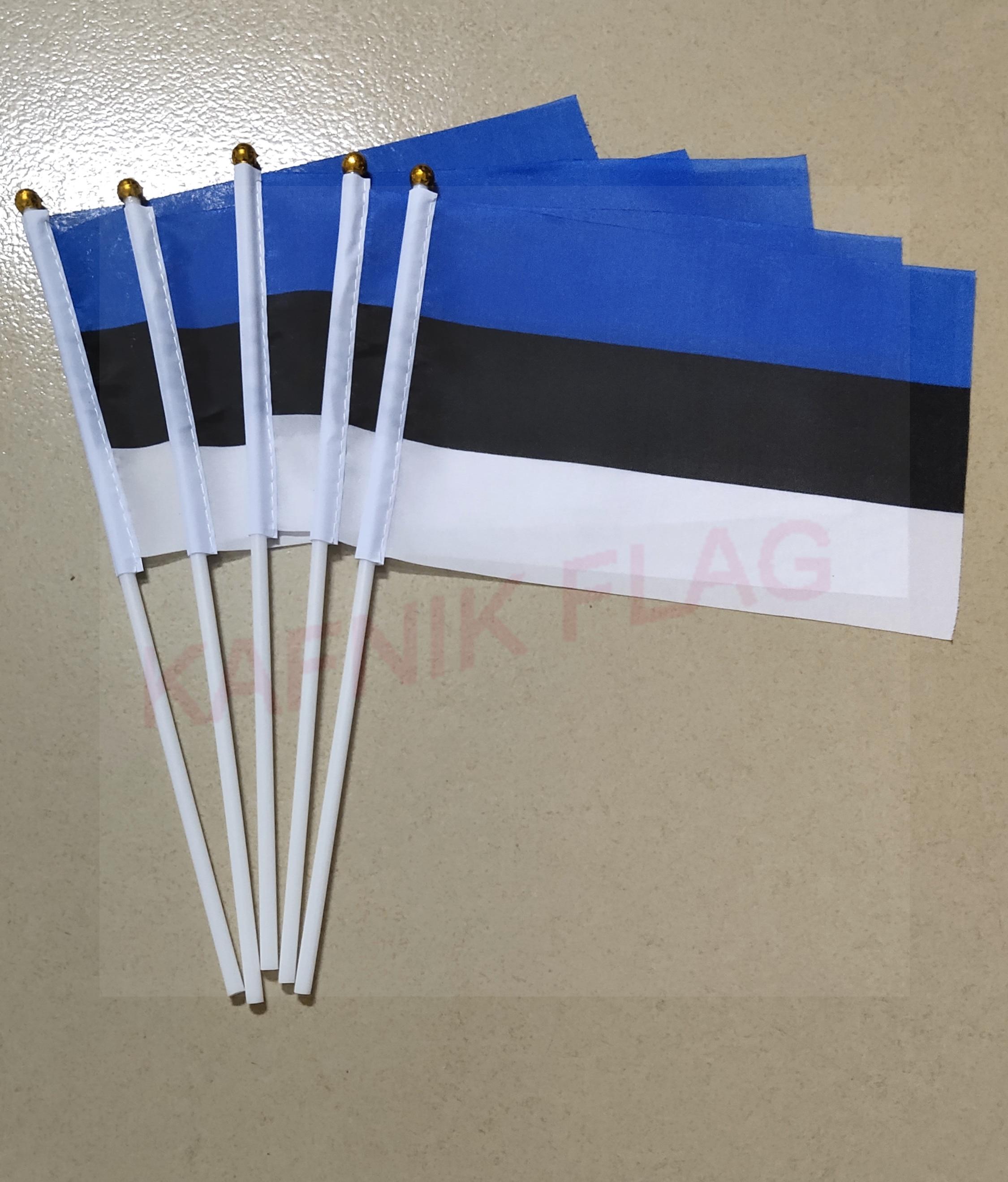KAFNIK,5pcs Estonia Fabric Flags 14*21CM  Free Shipping
