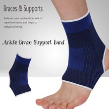 1pcs Elastic Knitted Ankle Brace Support Band Sports Gym Protects Therapy basketball football shoes